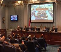 النواب الليبيون يعقدون مؤتمرا صحفيا بالقاهرة بشأن الأزمة الليبية