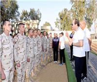الرئيس السيسي لطلاب الكلية الحربية: كونوا قدوة لجميع شباب مصر