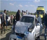 إصابة 3 أشخاص في انقلاب سيارة بالطريق الزراعي في البحيرة