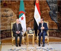 الرئيس السيسي يلتقي نظيره الجزائري بقصر الاتحادية