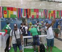 شاهد| الجزائريون يعبرون عن فرحتهم بالوصول إلى النهائي في مطارالقاهرة