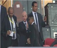 أمم إفريقيا 2019| «إنفانتينو» يصل استاد القاهرة لمتابعة النهائي