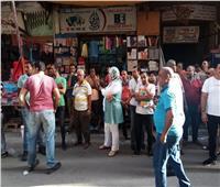 حملة لإزالة الإشغالات وفرض الإنضباط بالمنشية قلب الإسكندرية التجاري
