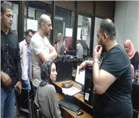 تنسيق الجامعات 2019| إقبال كبير على معامل هندسة القاهرة لتسجيل رغبات الطلاب