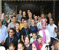 محافظ المنوفية يستقبل المسيرة الشبابية احتفالاً بيوم البيئة العالمي