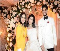 صور| حجاج وشيبة وبوسي يحتفلون بزفاف «أحمد وسلمى»