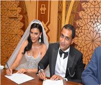 صور.. نجوم الفن يحتفلون بعقد قران هبة السيسي