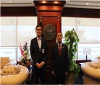 رئيس الرقابة المالية يبحث مع ممثل الأونكتاد سبل الشراكة لإنشاء مراكز الخبرة