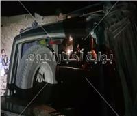 صور| نجاة نائب فرشوط من الموت في انقلاب سيارته على الصحراوي