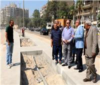 محافظ القاهرة يتفقد اعمال تطوير محور أحمد تيسير بمدينة نصر
