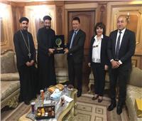 وفد مطرانية سمالوط يلتقي القائم بأعمال سفارة ليبيا