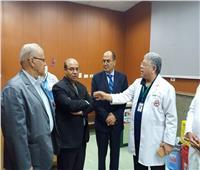 أعضاء لجنتي التعليم والصحة بمجلس النواب يزورون مؤسسة الكبد المصري