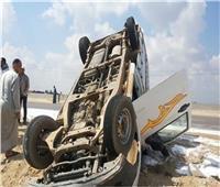إصابة 10 عمال في انقلاب سيارة بالطريق الصحراوي في البحيرة