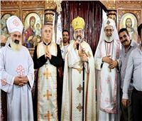 بطريرك الكاثوليك يُدشن كنيسة مارجرجس بنجع «الدك»