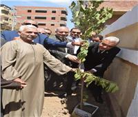 رئيس جامعة المنوفية يدشن مبادرة «هانجملها» لتطوير قرية ميت الموز