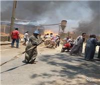 مليون جنيه خسائر مبدئية.. بسبب حريق مصنع كتان في الغربية