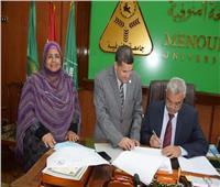 رئيس جامعة المنوفية يعتمد نتيجة كلية التربية