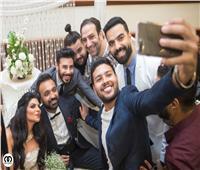 صور  محمد شاهين وسراج يحتفلان بعقد قران المخرج إسلام الفولي