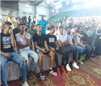 صور| ظهور لاعبي صفقات الزمالك الجدد بمؤتمر مرتضى منصور