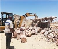 تنفيذ 11 قراراً و 28 حالة إزالة فورية لتعديات على أراضى الدولة بأسوان