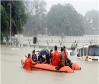 أمطار وسيول في الهند.. وتماسيح تجوب الشوارع