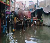 صور.. شاهد شبين القناطر بالقليوبية تغرق في «شبر مياه»