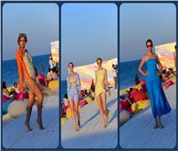 صور  نجوى زهران تُبهر جمهورها بعرض أزياء على البحر