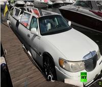 شاهد  مخترع أوكراني يحول قاربه إلى سيارة ليموزين