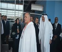 السفير السعودي يودع حجاج أسر الشهداء بمطار القاهرة