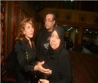 صور| حلمي عبد الباقي ونادية مصطفى في عزاء عليا محمد فؤاد
