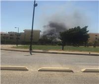 صور.. حريق بملاهي في مدينة 6 أكتوبر بالجيزة