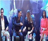 صور| طارق العريان يصل المؤتمر الصحفي لـ«أولاد رزق 2»