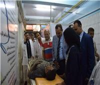 إصابة 5 عمال بعد سقوط سقف بمعهد التدريب بجامعة سوهاج