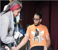 إقبال كبير في الأهلي على حملة التبرع بالدم لصالح ضحايا «معهد الأورام»