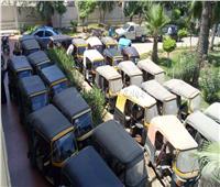 ضبط 15 «توك توك» في حملة مرورية بالزرقا