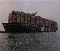 صور| عبور أكبر سفينة حاويات بالعالم  في أول رحلة لها عبر قناة السويس الجديدة