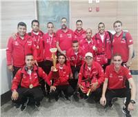 صور  استقبال حافل لمنتخب مصر للأولمبياد بعد العودة بذهبية كرة القدم بالهند