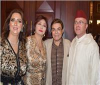 صور| عمرو موسى وسمير صبري ونبيلة عبيد في احتفال سفارة المغرب بالعيد الوطني