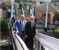 محافظ القاهرة يتفقد مرسي الاتوبيس النهري ويطمئن على الخدمات الصحية بالمستشفيات