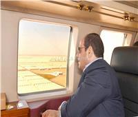 الرئيس السيسي يتفقد مشروعات الصوب الزراعية بقاعدة محمد نجيب