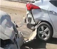 مصرع وإصابة 5 أشخاص في تصادم سيارتين بالسويس