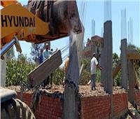إزالة 9 حالات تعدٍ على الأراضي الزراعية بسرس الليان