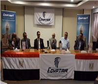 رئيس بعثة «مصر للطيران» بالسعودية يناقش استعدادات عودة الحجاج