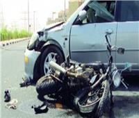 إصابة 6 أشخاص بينهم طفلين فى تصادم سيارة مع دراجة بخارية في بورسعيد