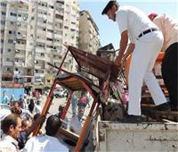 حملات مكثفة لإزالة الإشغالات والقمامة بشوارع المنيا