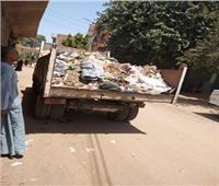 حملات لرفع أكوام القمامة بأسيوط ..ورفع 300 طن مخلفات خلال يوم واحد