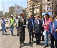 محافظ القاهرة يتفقد أعمال تطوير شارع أحمد تيسير بمدينة نصر