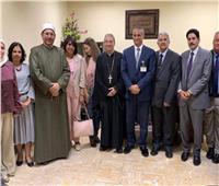 وفد من بيت العائلة المصرية يزور المعهد القومي للأورام
