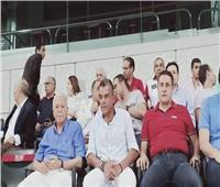 صور| حسن حمدي يشهد مباراة الكأس بين الأهلي وبيراميدز