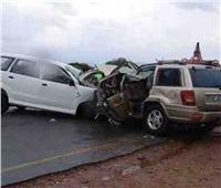 مصرع وإصابة 5 في حادث تصادم بالطريق الصحراوي الغربي بالمنيا